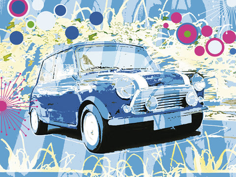 Vintage Mini Cooper 60x80cm Art Print Wall Picture - Custom Framing, Art Prints, Framed Pictures, Ready Made Frames Artists Materials & more - Art Prints - art@home