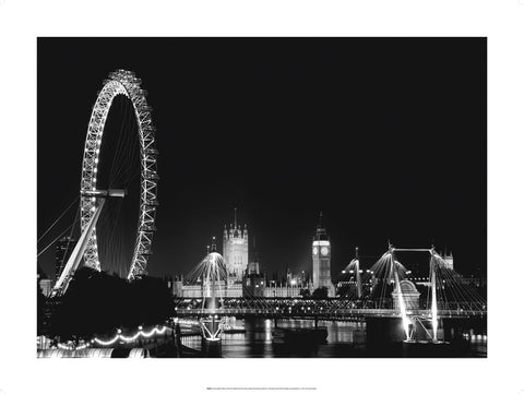 London By Night - Custom Framing, Art Prints, Framed Pictures, Ready Made Frames Artists Materials & more - Art Prints - art@home