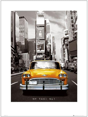 New York Taxi No 1 60x80cm Art Print Wallart Picture - Custom Framing, Art Prints, Framed Pictures, Ready Made Frames Artists Materials & more - Art Prints - art@home