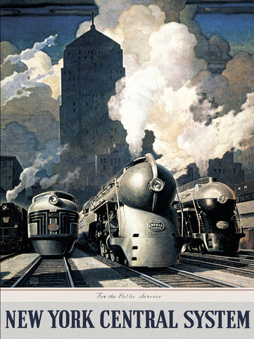 New York Central  60x80cm Art Print Wall Picture - Custom Framing, Art Prints, Framed Pictures, Ready Made Frames Artists Materials & more - Art Prints - art@home