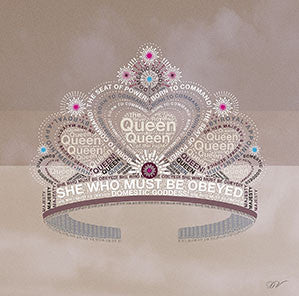 Pretty Tiara 30x30cm Art Print Wall Picture - Custom Framing, Art Prints, Framed Pictures, Ready Made Frames Artists Materials & more - Art Prints - art@home
