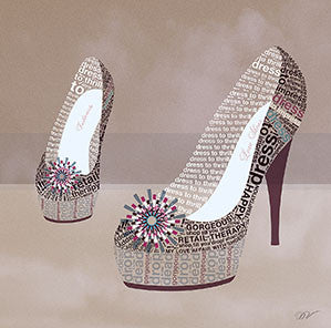 Pretty Shoe 30x30cm Art Print Wall Picture - Custom Framing, Art Prints, Framed Pictures, Ready Made Frames Artists Materials & more - Art Prints - art@home