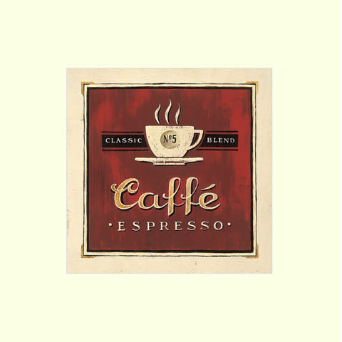 Cafe Expresso -  Mounted Art Print