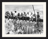 Eating Above Manhattan Framed Art Print Poster Picture Black Frame