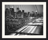 Manhattan at Night Framed Art Print Poster Picture Black Frame