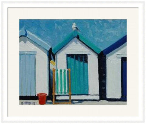 Beach Huts - Custom Framing, Art Prints, Framed Pictures, Ready Made Frames Artists Materials & more - Framed Picture - art@home