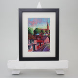Small Framed Art - Sonia Villiers, Bridge Street, Saffron Walden