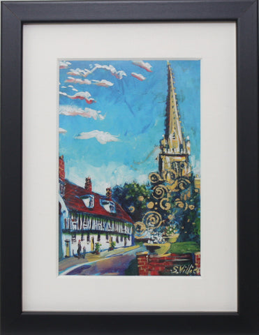 Small Framed Art - Sonia Villiers, St Mary's Path, Saffron Walden