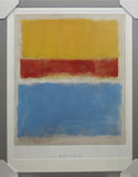 Framed Mark Rothko- Untitled, (Yellow, Red and Blue) 1953 art print
