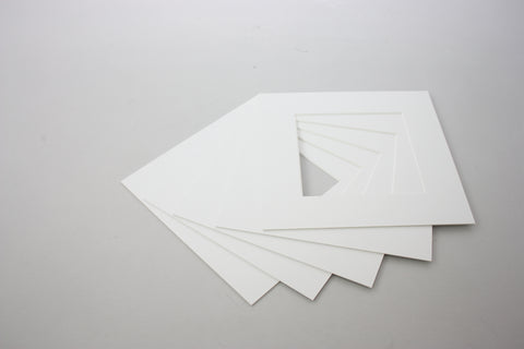 Packs of 5 Square Mounts -  Bright White