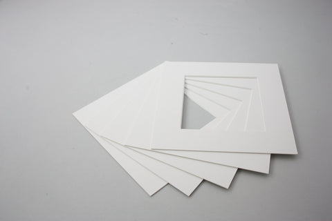 Packs of 5 Square Mounts - White