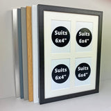 "30x40cm. Holds 4 6x4"" photos.  Multi Aperture Photo Frame"