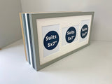 "25x60cm Frame, Holds Three 5x7"" Photos. Multi Aperture Photo Frame"