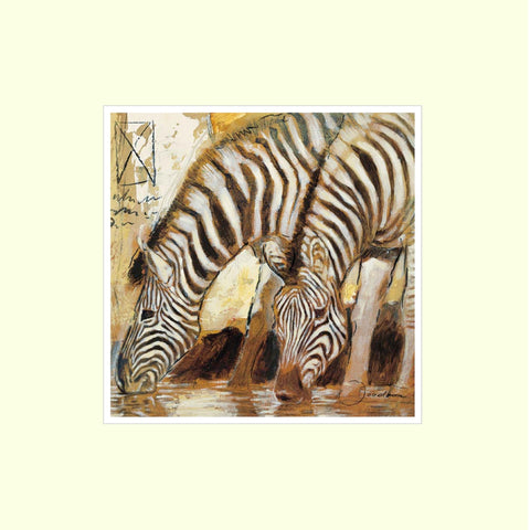 Zebras  - Mounted Art Print