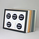 "30x40cm Frame. Holds Five 6x4"" Photos. Multi Aperture Photo Frame"