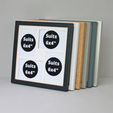 "30x30cm Frame, Holds Four 6x4"" Photos Multi Aperture Photo Frame"