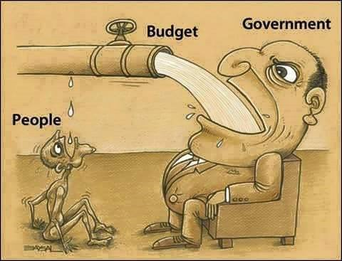 budget, goverment, people, joke, newspaper, water, man, drink, money