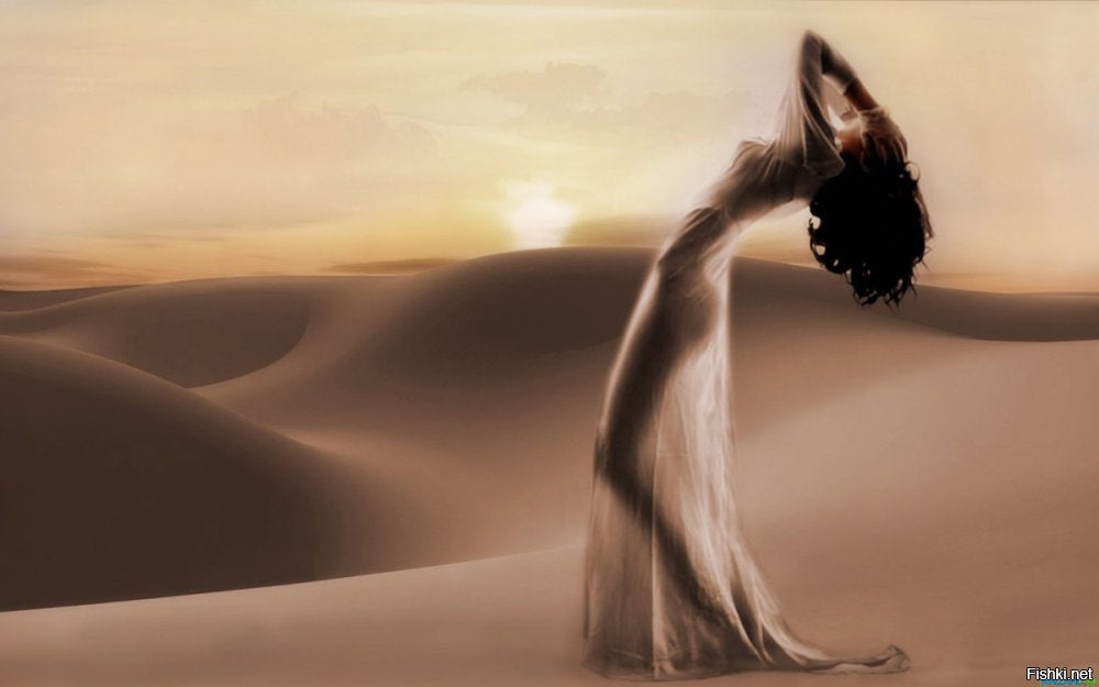girl, woman, desert, sun, erotic