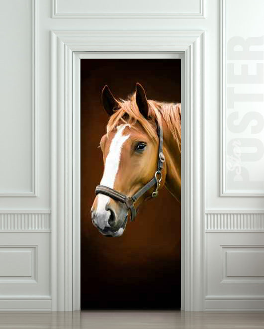one piece door sticker horse barn stable stall mural decole film