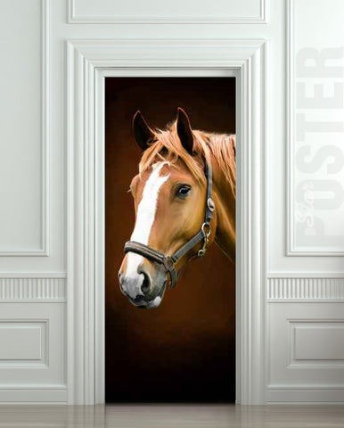 ONE PIECE Door STICKER horse barn stable stall mural decole film self-adhesive poster