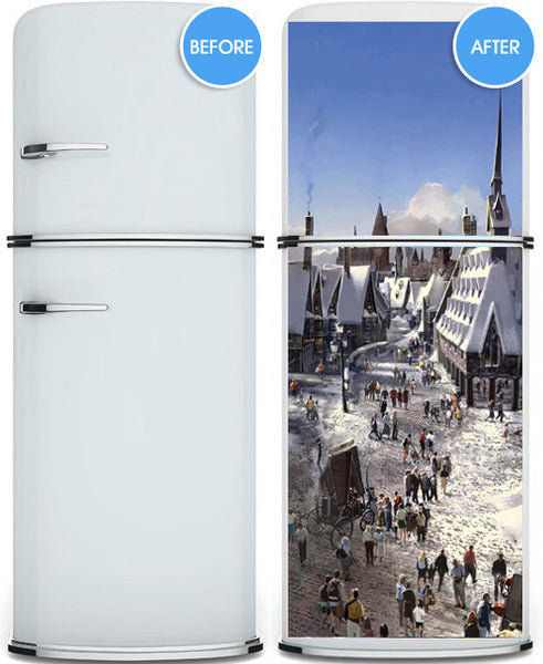 "Door Wall STICKER Harry Potter world poster decole cover film 30""x79"" (77x200 cm)"