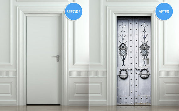 "Door Wall STICKER poster metal doors decole sparks shimmer cover film 30""x79"" (77x200 cm)"