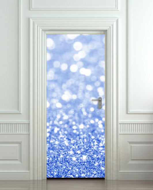 "Door Wall STICKER poster bling glitter sparks blue decole sparks shimmer cover film 30""x79"" (77x200 cm) - Pulaton stickers and posters  - 1"