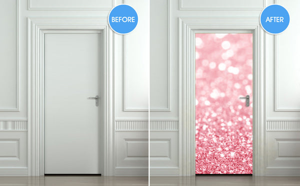 "Door Wall STICKER poster bling glitter sparks rose decole cover film 30""x79"" (77x200 cm) - Pulaton stickers and posters  - 2"