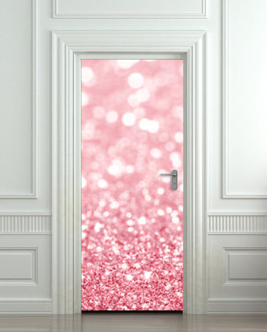 "Door Wall STICKER poster bling glitter sparks rose decole cover film 30""x79"" (77x200 cm) - Pulaton stickers and posters  - 1"