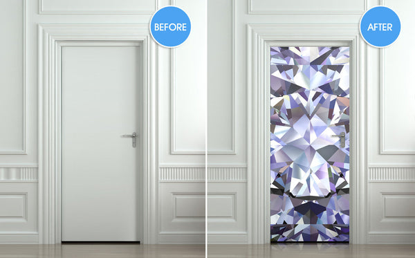 "Door Wall STICKER poster diamond shimmer shine bling rhinestone cover film 30""x79"" (77x200 cm) - Pulaton stickers and posters  - 2"