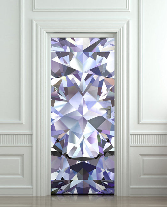 "Door Wall STICKER poster diamond shimmer shine bling rhinestone cover film 30""x79"" (77x200 cm) - Pulaton stickers and posters  - 1"