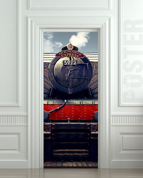 "Door STICKER hogwarts express train Harry Potter mural decole film self-adhesive poster 30""x79""(77x200 cm) - Pulaton stickers and posters  - 1"