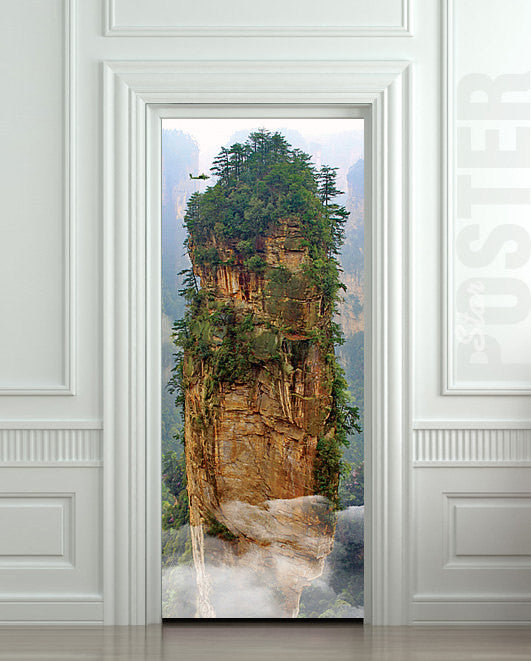 "Door STICKER China mountain rock mural decole film self-adhesive poster 30""x79""(77x200 cm) - Pulaton stickers and posters  - 1"