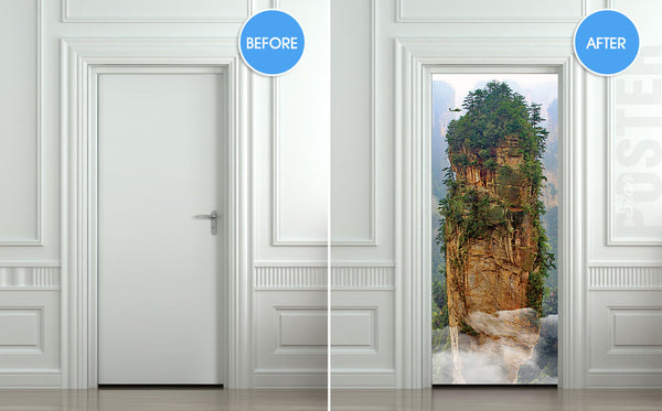 "Door STICKER China mountain rock mural decole film self-adhesive poster 30""x79""(77x200 cm) - Pulaton stickers and posters  - 2"