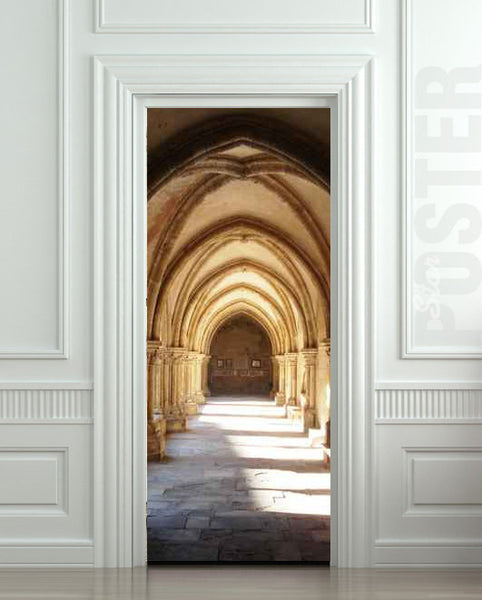 "Door STICKER corridor arch vault mural decole film self-adhesive poster 30""x79""(77x200 cm) - Pulaton stickers and posters  - 1"