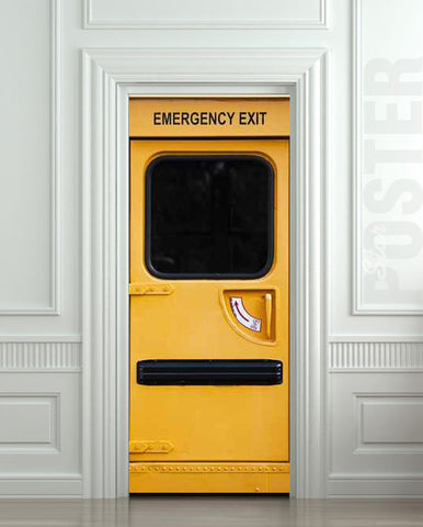 "Door STICKER emergency exit fire station mural decole film self-adhesive poster 30""x79""(77x200 cm) - Pulaton stickers and posters  - 1"