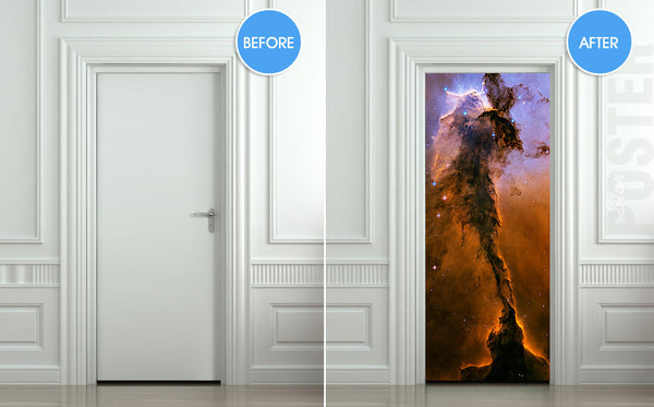 "Door STICKER space eagle cosmos exploration constellation mural decole film self-adhesive poster 30""x79""(77x200 cm) - Pulaton stickers and posters  - 2"