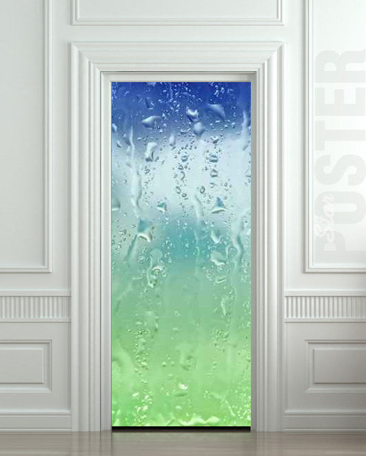 "Door STICKER drops rain window dew mural decole film self-adhesive poster 30""x79""(77x200 cm) - Pulaton stickers and posters  - 1"