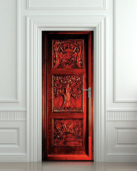 Door STICKER wardrobe Gateway to another world fantasy antique mural decole film self-adhesive poster - Pulaton stickers and posters  - 1