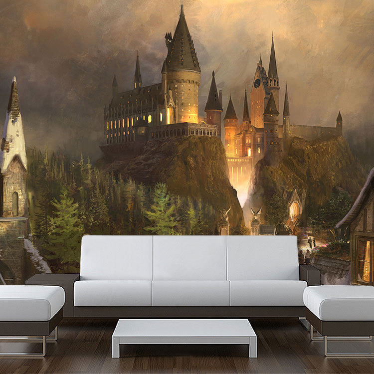 Wall STICKER MURAL harry potter world Hogwarts decole poster - Pulaton stickers and posters