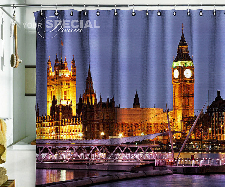 Bath Shower Curtain London city Britain Big Ben - Pulaton stickers and posters