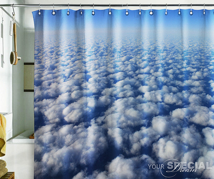 Bath Shower Curtain clouds in heaven flight flying atmosphere - Pulaton stickers and posters
