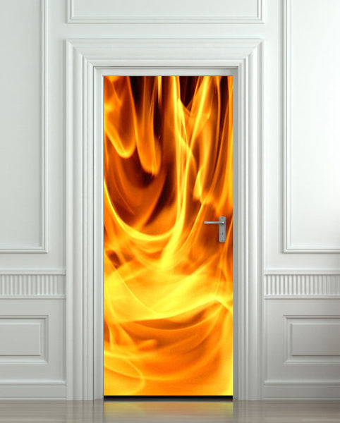 "Door STICKER fire fireman 911 flame flare blaze mural decole film self-adhesive poster 30""x79""(77x200 cm) - Pulaton stickers and posters  - 1"