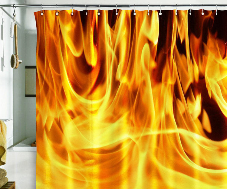 Bath Shower Curtain  fire fireman 911 flame flare blaze - Pulaton stickers and posters