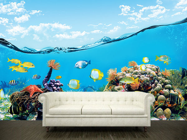 Wall STICKER MURAL ocean sea underwater decole film poster - Pulaton stickers and posters  - 1