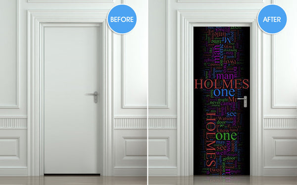 "Door STICKER Baker one Sherlock detective mural decole film self-adhesive poster 30""x79""(77x200 cm) - Pulaton stickers and posters  - 2"