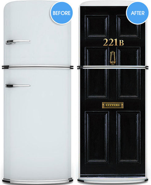 "Door STICKER London Baker street house entrance mural decole film self-adhesive poster 30""x79""(77x200 cm) - Pulaton stickers and posters  - 3"