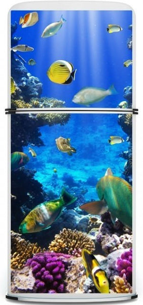 "Door STICKER aquarium fish sea underwater mural decole film self-adhesive poster 30""x79""(77x200 cm) - Pulaton stickers and posters  - 3"