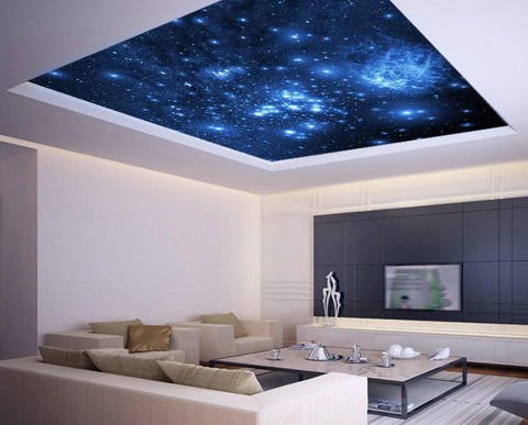 Ceiling STICKER MURAL space blue stars galaxy night decole poster - Pulaton stickers and posters  - 1