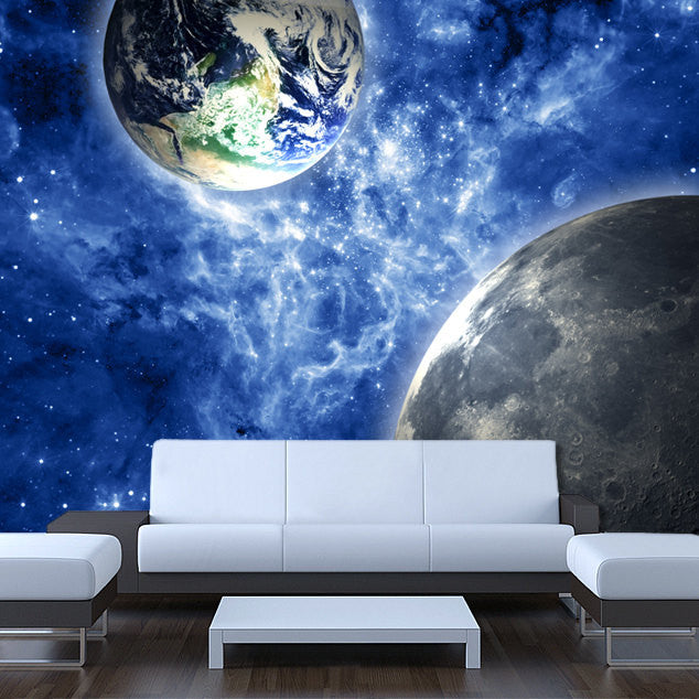 Wall STICKER MURAL space stars Earth Moon galaxy - Pulaton stickers and posters